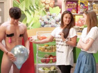 Why is Tricked's Ben Hanlin naked for Brooke Vincent and Amy Kelly?