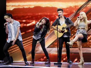 Only The Young perform on The X Factor on Sunday 28th September