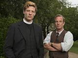 James Norton as Sidney Chambers & Robson Green as Geordie Keating in Grantchester