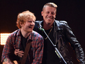 Ed Sheeran and Macklemore perform during the 2014 iHeartRadio Music Festival at the MGM Grand Garden Arena on September 20, 2014 in Las Vegas, Nevada.