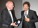 The Godfather actor accepts prestigious award at Corinthia Hotel in London.