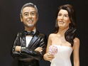 See the hilarious figurines of the Hollywood couple set to tie the knot in Italy.
