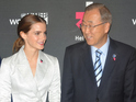 Emma Watson and Ban Ki-Moon attend the launch of the HeForShe Campaign at the UN
