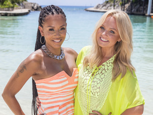Mel B & Emma Bunton at the judges houses stage on The X Factor 2014