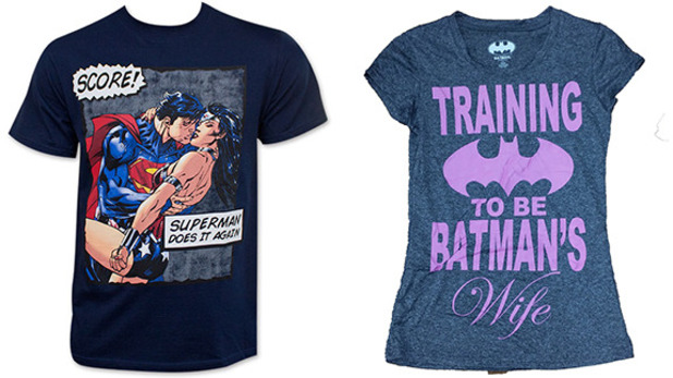 Dc 39 agrees 39 with sexist t shirts criticism comics news for Dc t shirts online