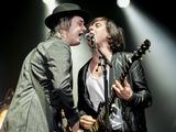 Pete Doherty and Carl Barat of The Libertines perform at Alexandra Palace