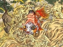 Katsuhiro Otomo unveils Japan's Sendai Airport mural of gods riding on a storm.