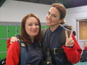 Mel C jumps out of a plane with cancer survivor Lauren for the Channel 4 series.