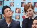 Are Selfie stars Karen Gillan and John Cho uncomfortable as they promote show?