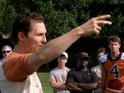 Matthew McConaughey shares pearls of wisdom with the Texas Longhorns.