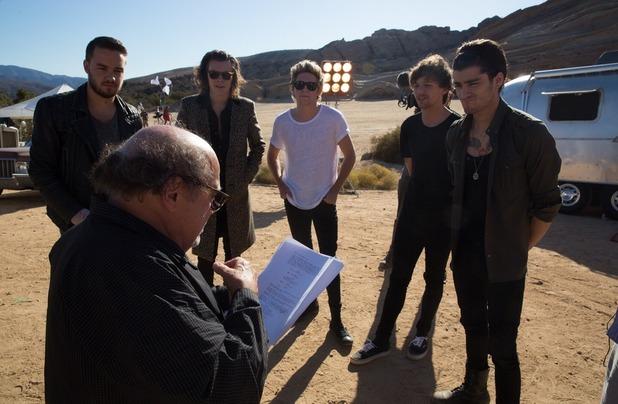 The boys meeting Danny DeVito