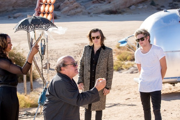 The boys meeting Danny DeVito
