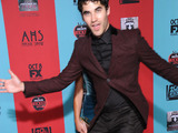 Darren Criss photobombs Lea Michele at the American Horror Story: Freak Show Los Angeles premiere