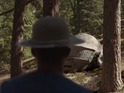 The singer and producer stumbles across Daft Punk's helmets in the woods.