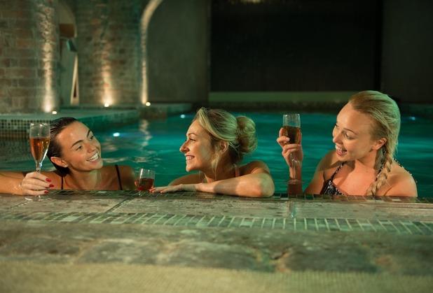 The McQueen's enjoy a spa day