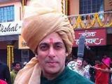 Salman Khan from the set of Prem Ratan Dhan Payo