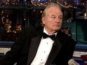 "Bill Murray excuses himself from Late Show chat to ""get a run in""."