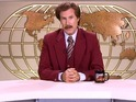 Anchorman's Ron Burgundy is - quite frankly - sick of cancer in comedy sketch.