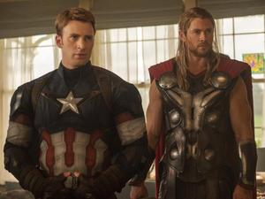 Captain America, Thor in Avengers: Age of Ultron