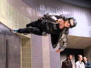 Evan Peters as Quicksilver in X-Men: Days of Future Past