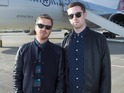 Rudimental & Gorgon City at London Gatwick airport before departnig to play gig 30,000ft in the sky