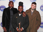 Edinburgh-based dark hip-hop act beat Damon Albarn and Royal Blood to win the award.