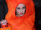 See Katy Perry as a cheese puff & Lily Allen become Dr Luke for Halloween