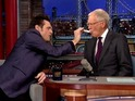 A paranoid Jim Carrey demands proof that David Letterman is healthy.