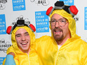 See the star as Walter White, and more in fancy dress at festive charity ball.