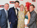 The Wolf of Wall Street star poses with Neighbours co-stars
