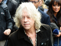 Geldof says there just wasn't enough lines for other artists.