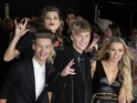 Reality show finalists try to steal the spotlight at London premiere.