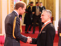 Daniel Day-Lewis is knighted by the Duke of Cambridge at Buckingham Palace.
