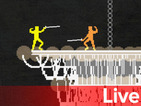 Watch us play Aqua Kitty, Nidhogg live over Twitch right now
