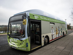 The Bio-Bus, the UK's first ever public transport powered on food waste & human poo