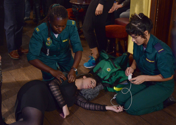 The paramedics arrive to help Sonia