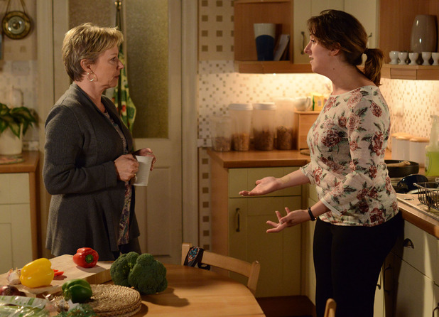 Sonia tells Carol she went on a boot camp to lose weight, not a training course.