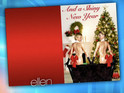 Ellen DeGeneres and Portia De Rossi show off their Kardashian-esque Christmas card.