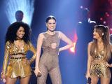 Jessie J, Ariana Grande & Nicki Minaj perform 'Bang Bang' at the American Music Awards 2014 in Los Angeles.