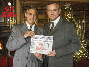 George Clooney and Hugh Bonneville for Text Santa: Downton Abbey on ITV