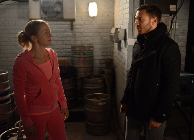 Dean threatens a terrified Linda with telling Mick if she doesn't talk to Stacey.