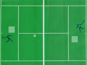 Magnavox Odyssey tennis game