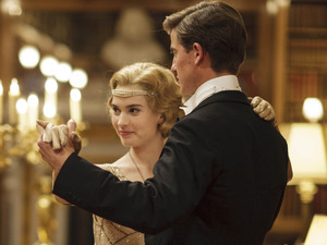 Lily James as Lady Rose & Matt Barber as Atticus in Downton Abbey Christmas special