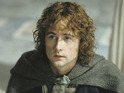 The actor evokes Pippin's mournful Return of the King song in his Hobbit theme.