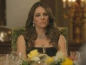 Elizabeth Hurley's Queen Helena is not amused in new photos from E! series.