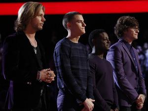The Voice: Craig Wayne Boyd, Chris Jamison, Damien Lawson, Matt McAndrew with Carson Daly