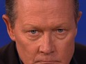 Robert Patrick shows off his intense T-1000 glare – after some prompting.