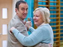 Angus Deayton reprises his role in Wednesday night's episode.