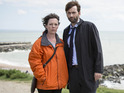 David Tennant as D.I Alec Hardy & Olivia Colman as D.S Ellie Miller in Broadchurch 2