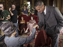 George Clooney meeting Dame Maggie Smith on tonight's Text Santa for a Downton Abbey sketch